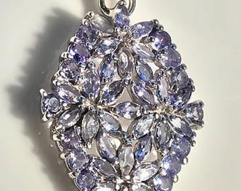 Tanzanite Glory' Glittering Tanzanite Gem Sterling Silver Pendant