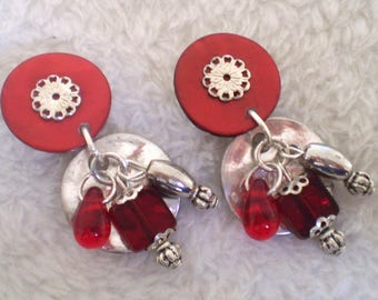 Burgundy Dinard clips. (made in France)