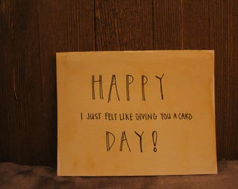 "Card // ""HAPPY DAY"""