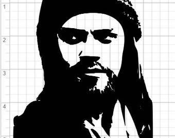 Walking Dead Jesus Silhouette Design SVG PDF EPS Dxf & Studio 3 Cut Files