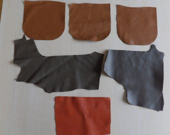SET no. 5: six pieces of leather