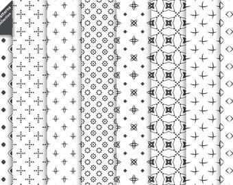 Set of classical vector seamless patterns. Digital paper. AI+EPS10+JPEG+PNG. For commercial and personal use. Traditional repeating textures