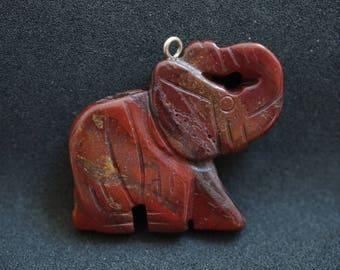 Jasper GEMSTONE PENDANT shaped elephant