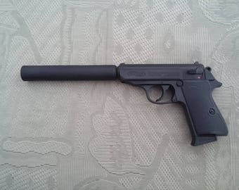 James Bond Walther PPK/S with silencer pistol movie replica