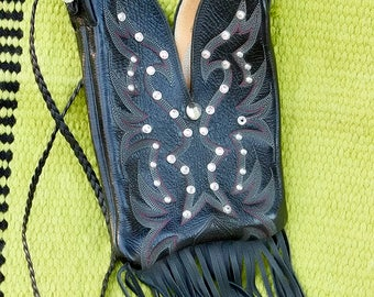 Black Nacona Cowgirl Boot Purse