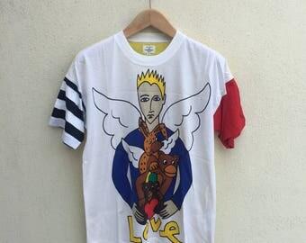 Vintage Jc De Castelbajac Pop Art Multicolour Tshirt