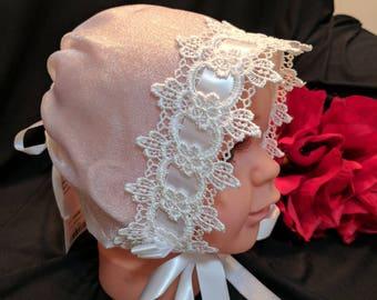 Sofia Bonnet, Small, with Drawstring Back
