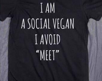 Social vegan tshirt