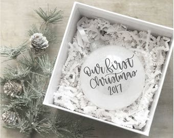 Our First Christmas Ornament, Just Married Ornament, Mr & Mrs Ornament, Newlywed Gift, Wedding Gift, First Christmas, Christmas Gift