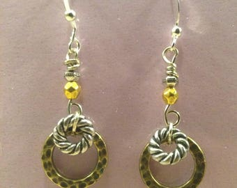 Mixed  Metals and Textures Earrings