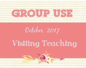 October 2017 Visiting Teaching Message, Relief Society Printable, Instant Download, Message VT LDS handouts, envelope template, Group Use