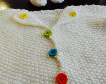 Baby Cardigan and Sock Bootie Set