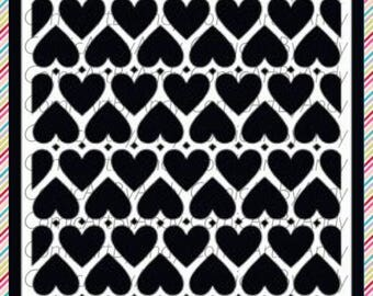 Heart Pattern stencil  reusable stencil wall furniture canvas stencil