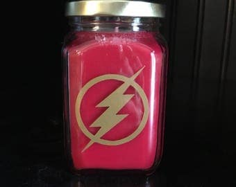 The Flash inspired Fandom Candle in Creme Brulee Scent