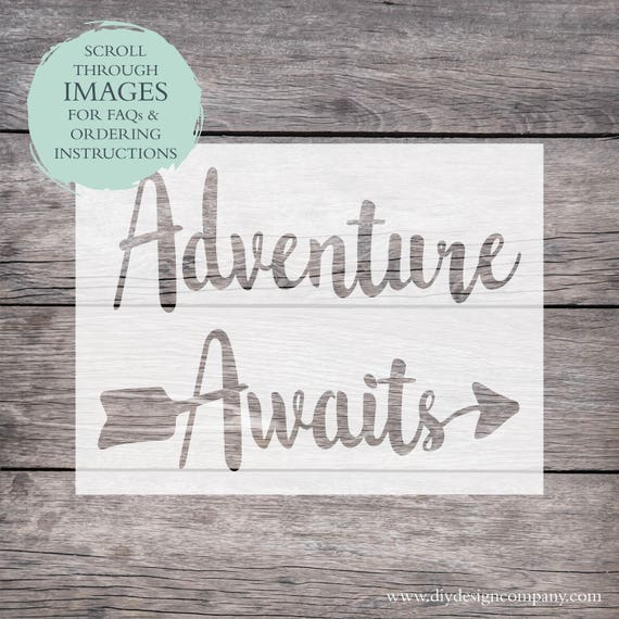 Adventure Awaits Stencil Or Decal Arrow Stencil Arrow