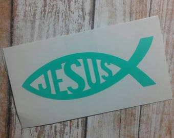 Religious Decal/Spiritual Decal/Faith-Based Decal/Jesus Decal/Faith Monogram/Faith Devotion/Spiritual Monogram/Church