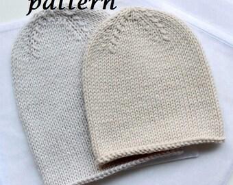 Pattern Baby Hat, baby Bonnet, Hand knit Bonnet, Newborn Hat, Baby Cap, Merino Hat Bonnet, baby knitwear