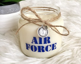 U.S. Air Force Soy Candle - Natural Soy Wax & Essential Oils