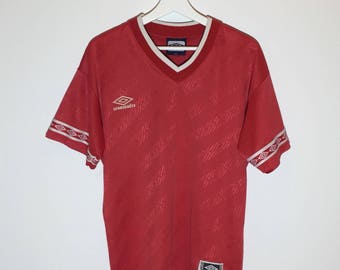 Red Vintage Umbro jersey- small