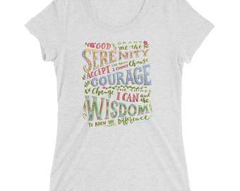 Serenity Prayer Ladies' short sleeve t-shirt