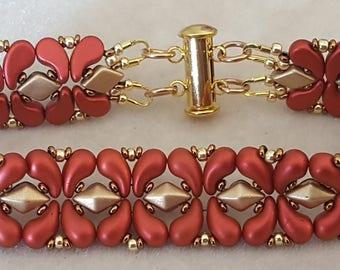 Tutorial Trio - Fleur De Lis, DiamonDuo Cuff, Nib-Bit DiamonDuo Bracelets