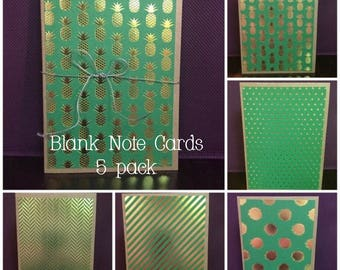 Blank Homemade Notecards, 5-Pack for ANY occasion!