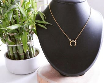 """Boho chic """"Horn of the Moon"""" necklace"""