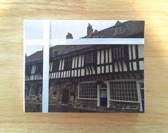 """Handmade Note Cards """"York Town"""" Original Design: 10 Cards and 10 Envelopes - Old Country Stationery"""