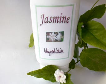 Jasmine Lotion - Genuine Jasmine Sambac, Whipped Body Lotion, Organic Shea Butter, Champaca Extract, Vegan, Gift for Her