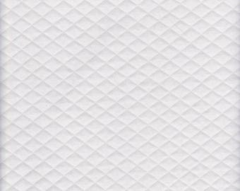 Ivory - White - Quilted - Knit - poly cotton lycra - jersey knit - stretch - fabric - four way stretch - lining - jackets - coats - vests