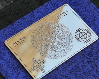 Wallet card The Seal of the True God, The Sigil of Ameth, Sigillium Dei Emeth
