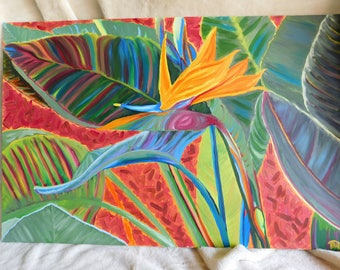 Bird of Paradise - oil painting