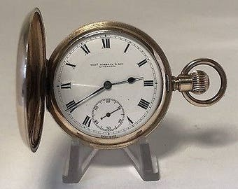 Antique Rolled Gold Full Hunter Pocket Watch - Thomas Russell - Liverpool