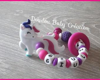 """100% silicone Unicorn rattle - model """"Giulia"""""""