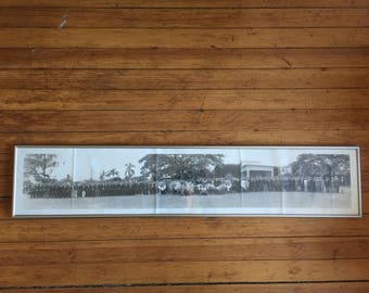 Hawaiian Funeral 1950s Vintage Panoramic Photograph Japanese Immigrant Historical Photo