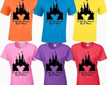 It was all started by a mouse Walt Disney World 2017 family tee shirt magic kingdom epcot mgm studios animal kingdom mickey mouse pandora