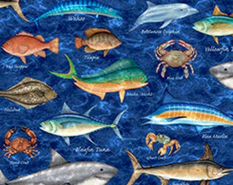 Fish of many kinds, Quilting Treasures