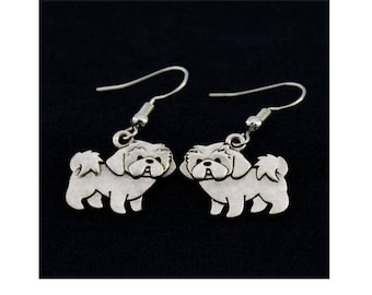 Lhasa Apso Charm Earrings