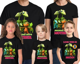Dinosaur Train Personalized Shirt Name & Age Custom Dinosaur Train Birthday Shirt Family Birthday Shirts