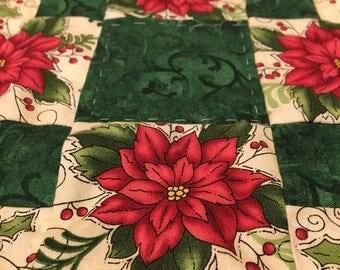 Poinsettia Christmas Table Topper