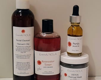 Cleanse - Acne / Oily Combination Skin Care Sample Set