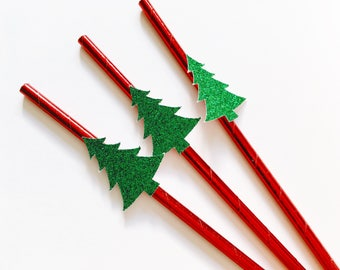 Christmas Tree straws