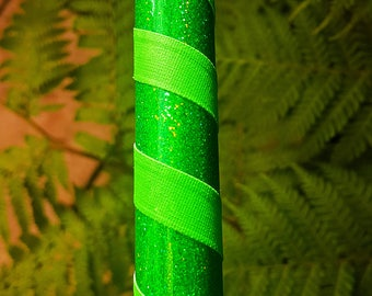"""Hula Hoop """"Green HoloGlitter"""" - Collapsible Polypro or HDPE"""