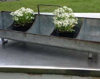 Galvanized Metal Farmhouse Caddy Storage Herb Planter