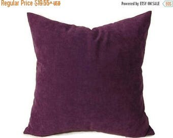 20% off Plum Pillow, Purple Velvet Pillow,  Plum Velvet Bed Pillow, Purple Velvet Bed Pillow, Plum Velvet Pillow Cover, Decorative Pillow