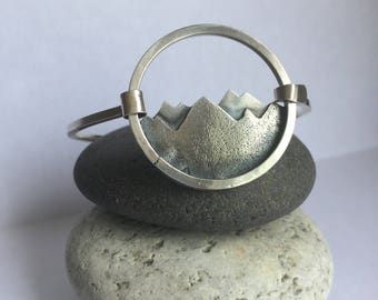 Mountain // Bangle Bracelet // Sterling Silver