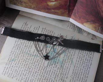 Steampunk Black Star chocker