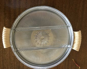 Chase tray with glass insert
