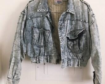1980s Cropped Denim Jacket