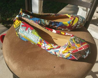 Marvel Comic Book Shoes
